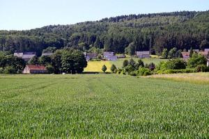 Blick von der HAW zum Wiehengebirge