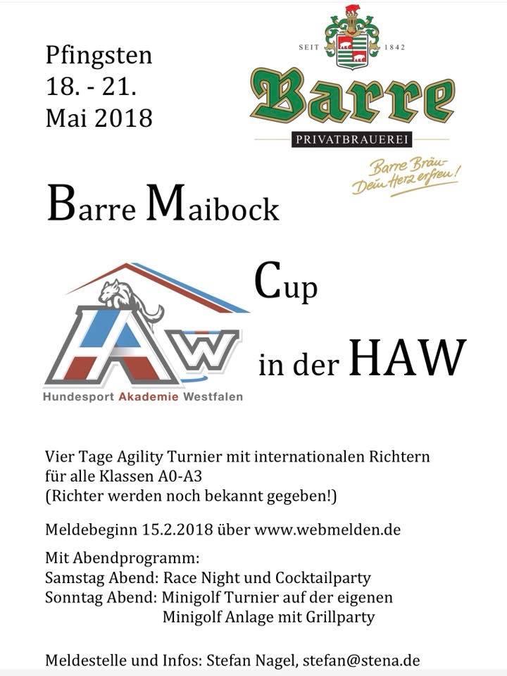 Barre Maibock Cup @ Hundesport Akademie Westfalen | Lübbecke | Nordrhein-Westfalen | Deutschland